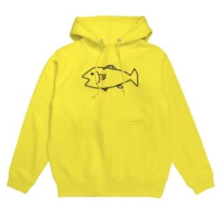 魚イラスト Hoodies