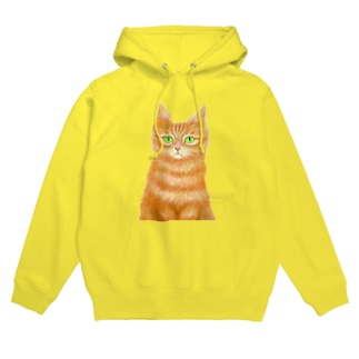 オレンジ猫 Hoodies