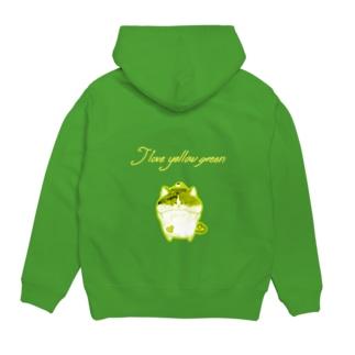 《ネオンシリーズ》*I love yellow green*みけ* Hoodies