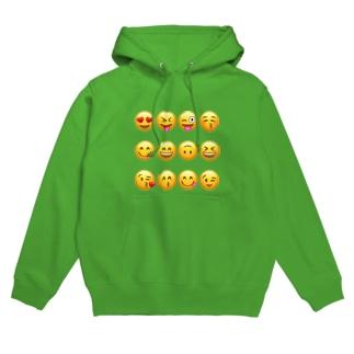 happy face emojis Hoodies
