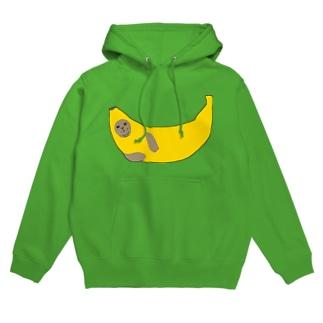 【パーカー】バナナアザラシ Hoodies