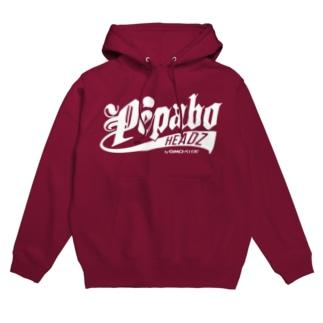 PEABO HEADZ White Logo Hoodies