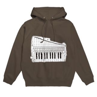 黒鍵パーカー(鍵盤ハーモニカ研究所オリジナルグッズ) フーディ