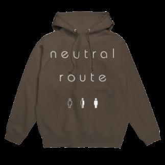 8garage SUZURI SHOPのneutral route [White] フーディ