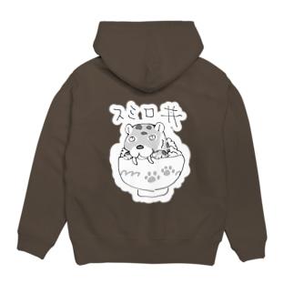 スミロ丼(背面白縁取り) Hoodies