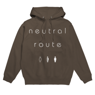8garage SUZURI SHOPのneutral route [White] フーディ
