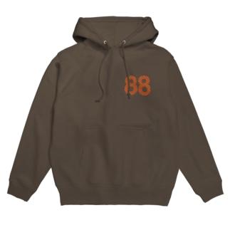 88オレンジロゴ Hoodies