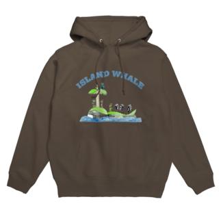 ISLAND WHALE Hoodies