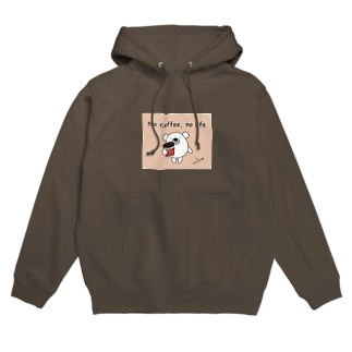 iroha_studioのくまのポポ(No coffee, no life) Hoodies