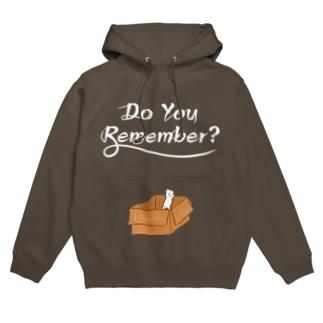 【両面】Do you remember ?(&君がために。)フォント白ver.) Hoodies
