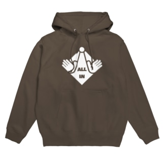 ALL IN(白デザイン) Hoodies