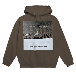 the parents and children of a swan Hoodies