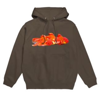 四連金魚 Hoodies