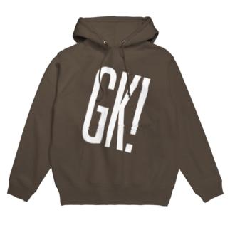 GK!ロゴ(白) Hoodies