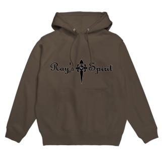 Ray's Spirit Logo ⑤(BLACK) Hoodies