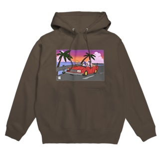 DRIVE sunset ver. Hoodies