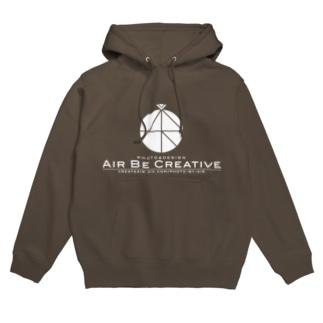 AirBeCreative白ロゴ Hoodies