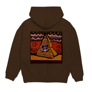 peace on earth (猫とピラミッド) Hoodies
