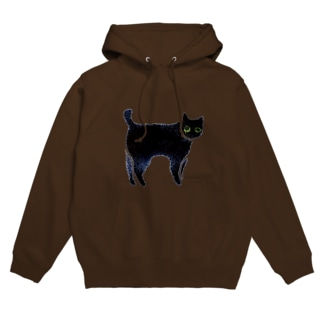 a piece of animation にじいろの黒ねこ TFh Hoodies