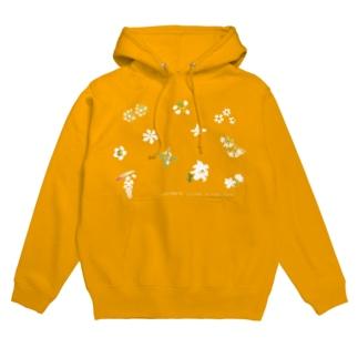 西表島の白い花(11種)高さおさえめ Hoodies