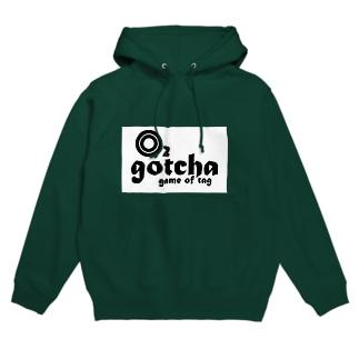 gotcha O2 ロゴ フーディ