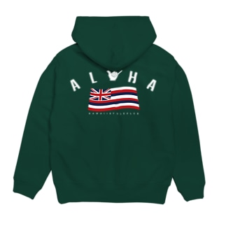 〔Back Print〕Aloha Flag Hoodies