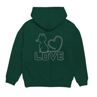 LOVE CAT3 Hoodies