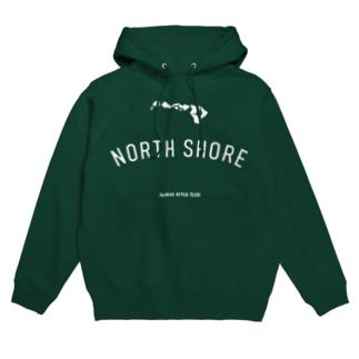 NORTH SHORE WHT LOGO Hoodies
