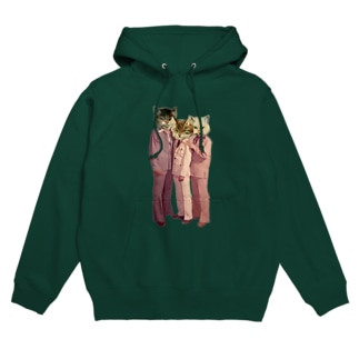 mythical two-tailed monster cat Hoodies