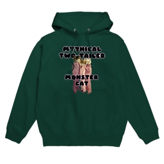 MYTHICAL TWO TAILED MONSTER CAT Hoodies