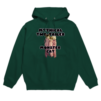 hazuhazu522のMYTHICAL TWO TAILED MONSTER CAT Hoodies