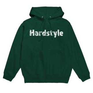 Hardstyleロゴパーカー白文字 Hoodies