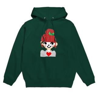 strawberry girl Hoodies