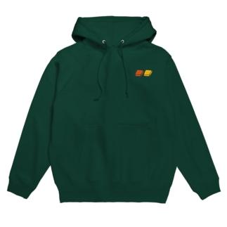 四角いグミ【深緑色用カラー】 Hoodie