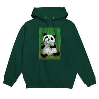 Washiemon and Ai-chan's ShopのPANDA No.4 Hoodies