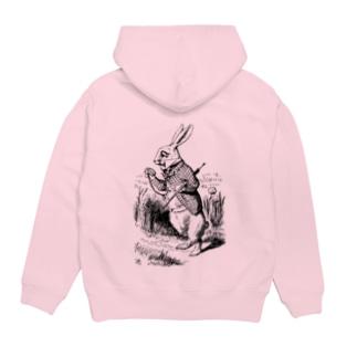 不思議の国のアリス 白ウサギ Hoodies
