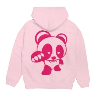 BASEfor PANDA Pink Hoodies