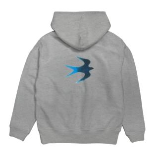 青い鳥 Hoodies