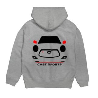 スポーツプルパーカー(黒) Hoodies