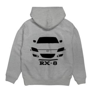 RX-8プルパーカー(黒) Hoodies