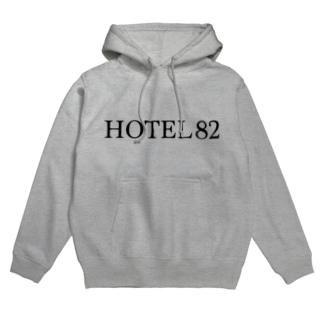 HOTEL82 ロゴ大 Hoodies