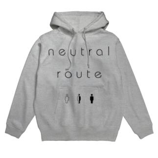 neutral route [Black] Hoodies