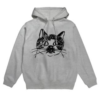 ブチ猫さん Hoodies