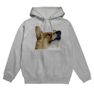 犬の寝顔(なまこチャンジャ様) Hoodies