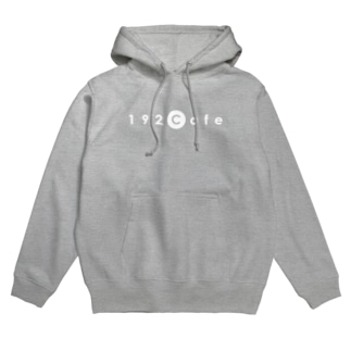 192Cafeの192Cafeロゴパーカー White Hoodies