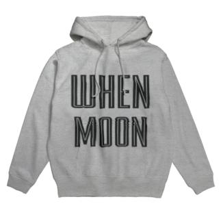 WHEN MOON Hoodies