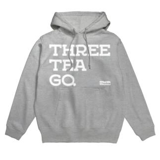THREE TEA GO.&Chaniwa  Hoodies