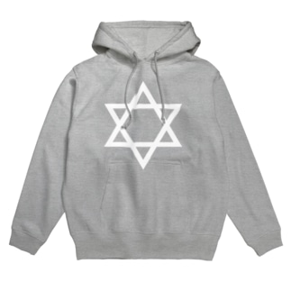 ▼ hexagram_white Hoodies