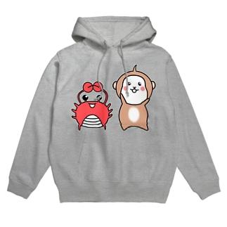 猿と蟹 Hoodie