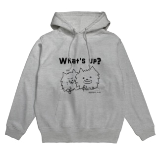 ginkuro mam's galleryの@ginkuro_mam【What's up?】 Hoodies